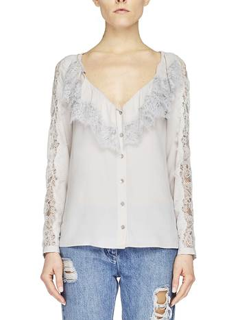 Crêpe De Chine Shirt With Lace