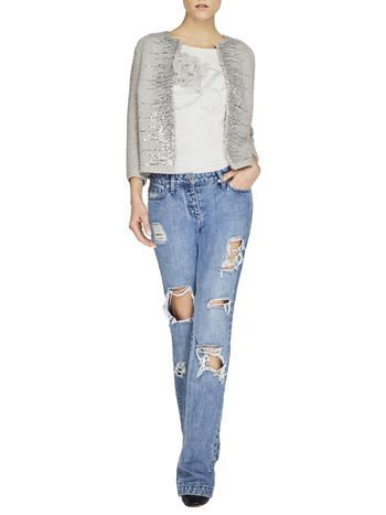 Skinny Bootcut Jeans With Rips