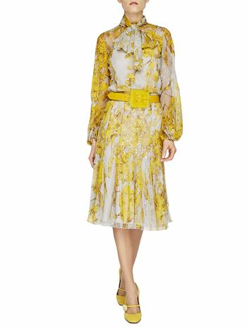 Spanish Broom Print Lace Skirt