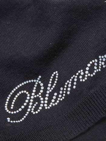 Écharpe En Laine Avec Logo En Cristal Swarovski