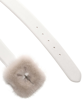 Belt With Mink Fur