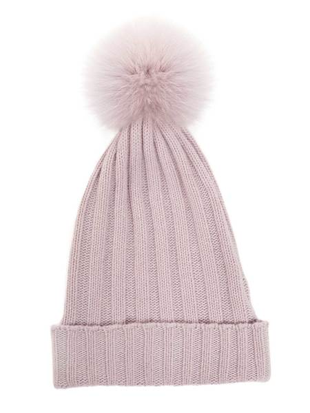 Hat With Pompoms