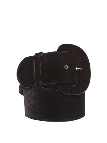 Velvet Belt With Buckle