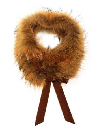 Fur Stole With Bow