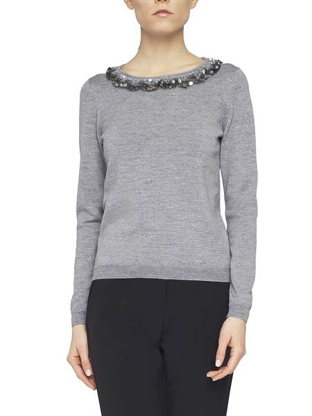 Pure Wool Jumper With Sequins