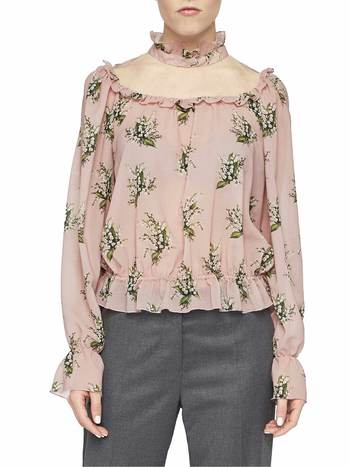 Lily Of The Valley Print Blouse