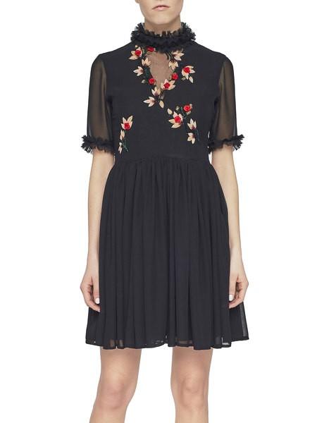 Chiffon Dress With Embroidery
