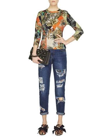 Patchwork Jungle Print Jumper