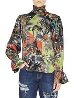 Patchwork Jungle Print Twill Shirt