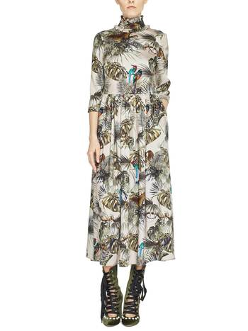 Jungle Print Twill Dress
