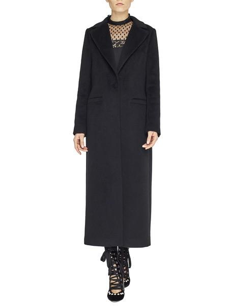 Длинное однобортное пальто