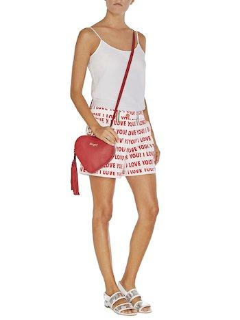 I Love You Print Shorts