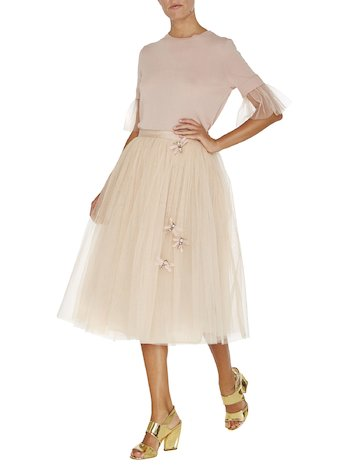Tulle Skirt With Dragonflies