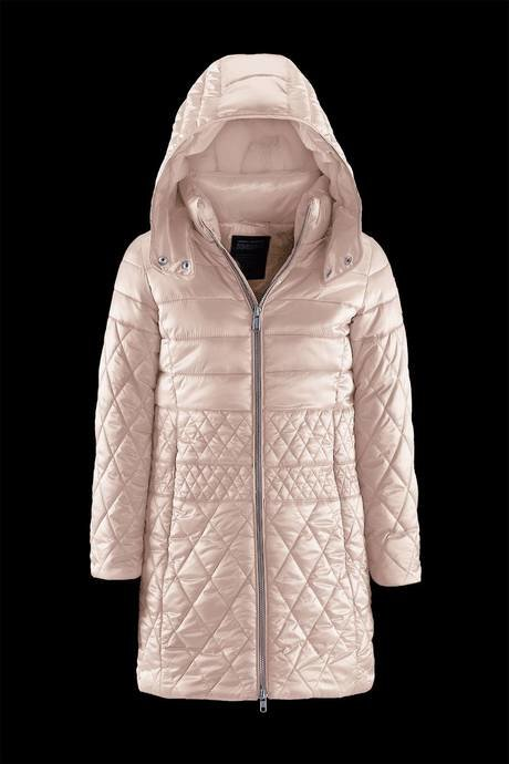 Girl down jacket with ecofur