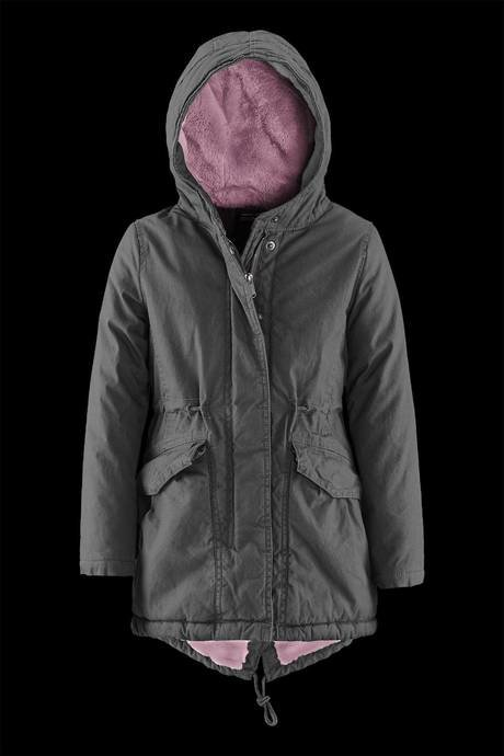 Girl parka with ecofur