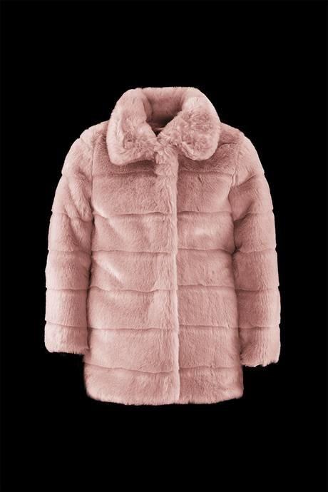Girl synthetic fur coat