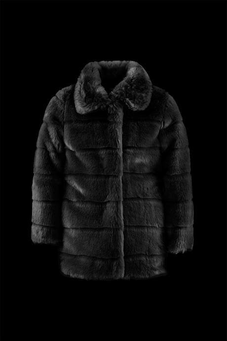 Girl synthetic fur coat