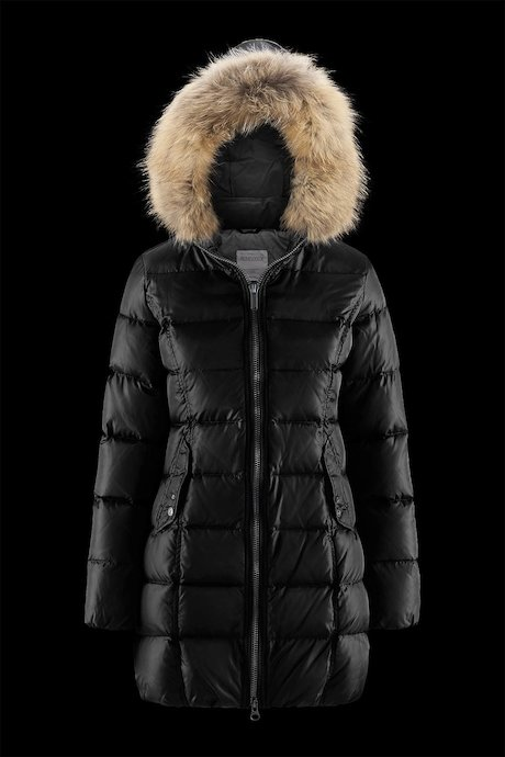 Semi Shiny Down Jacket Faux Fur Inserts