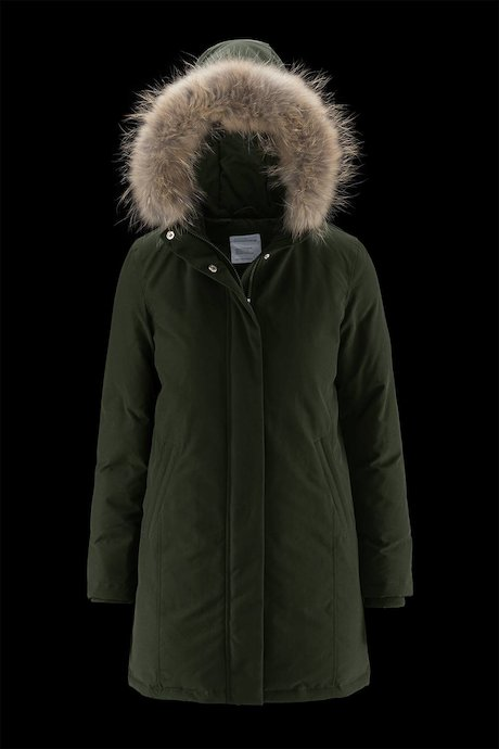 Woman's long down jacket