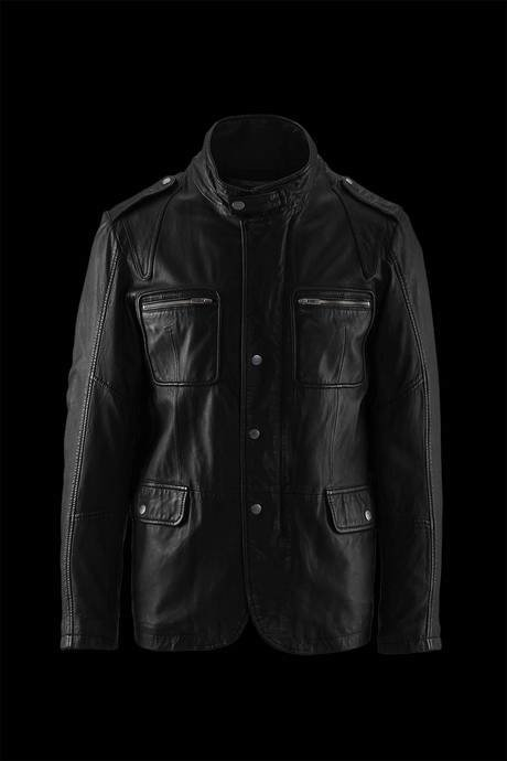 MAN LEATHER BLAZER WITH FOUR POCKETS