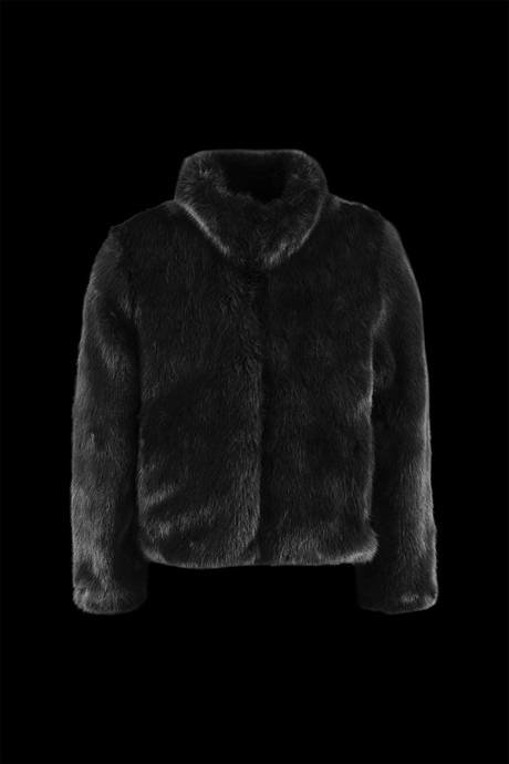 Girl ecofur coat