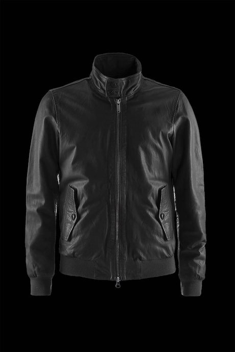 JACKET MAN LEATHER COSTINATO FUND