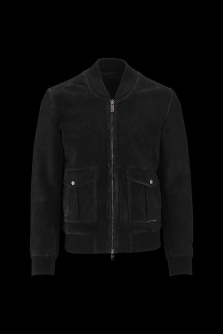 Man's leather bomber Levy