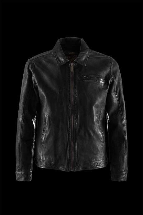 JACKET MAN THREE POCKETS LEATHER