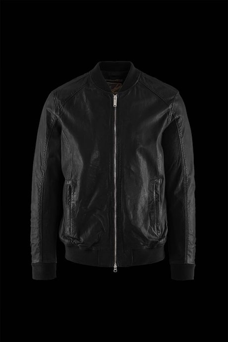 Man's leather bomber Smit