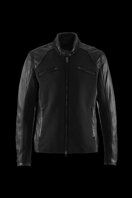 JACKET MAN LEATHER INSERTS IN NEOPRENE