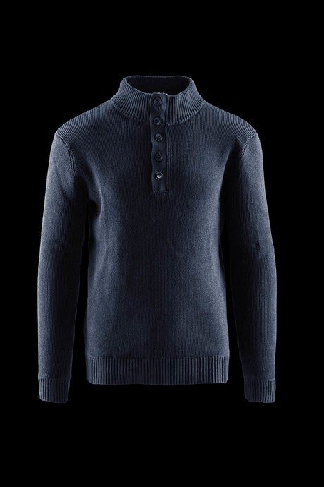 Man's sweater high collar and buttons
