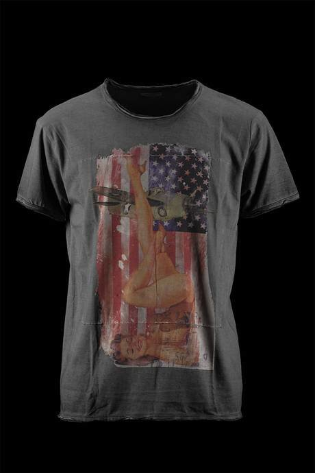 T-SHIRT UOMO STAMPA PIN-UP AMERICA