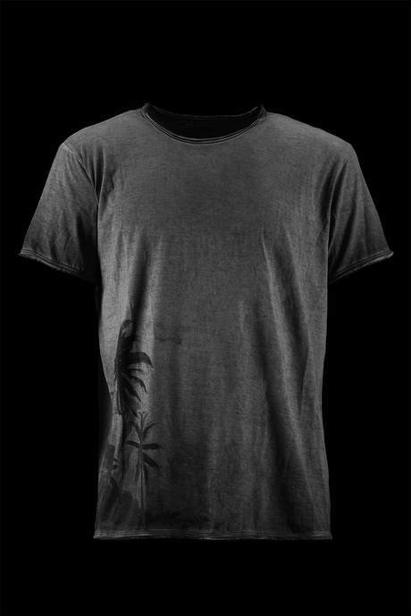 T-SHIRT UOMO CON STAMPA PALMS LATERALE