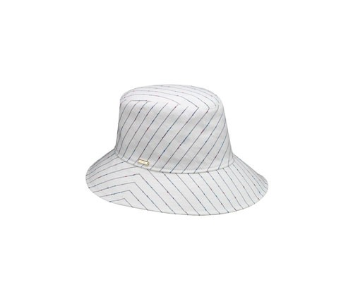 Striped Cloche hat