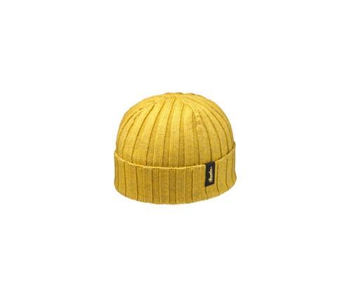 Rib-knit cashwool beanie