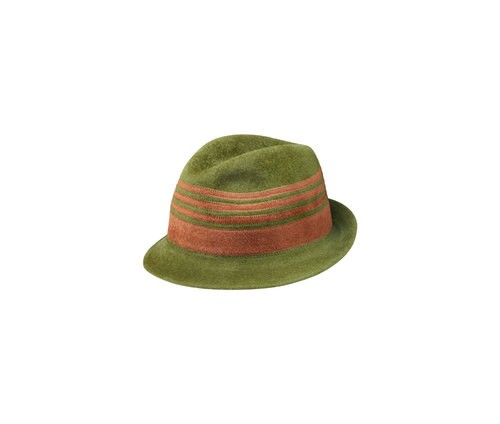Positive-negative velour Trilby hat