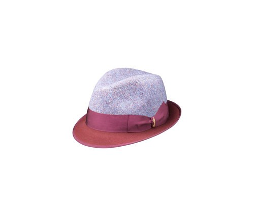Patterned Trilby hat