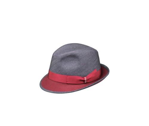 Denim Trilby hat