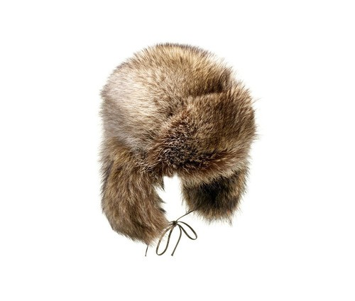 Marmot fur aviator hat