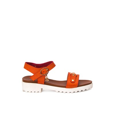 Ankle strap flatform sandals with buckle – Swish