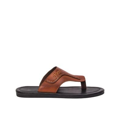 Men seamed flip flops- leather – Lancetti