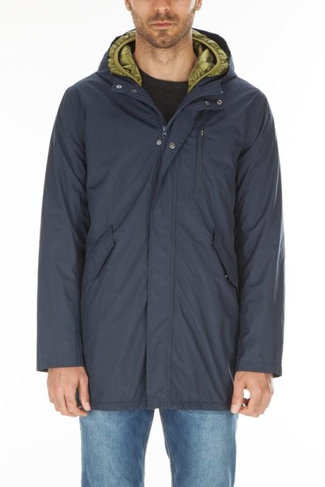 Man's long waterproof  jacket with down jacket detachable