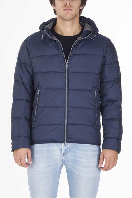 Man's down jacket with hood