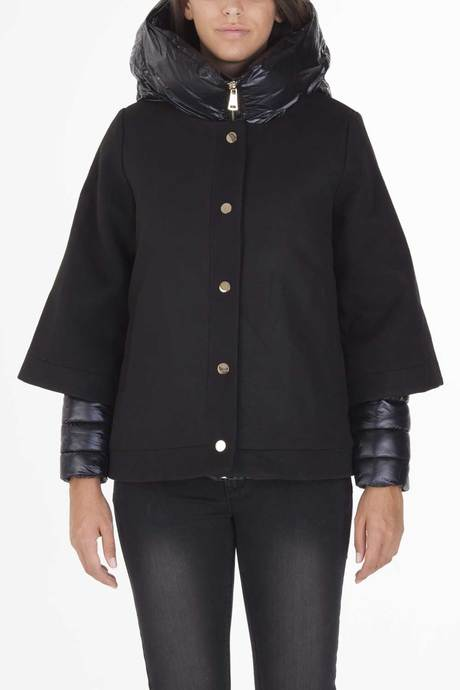 Woman's coat with down jacket