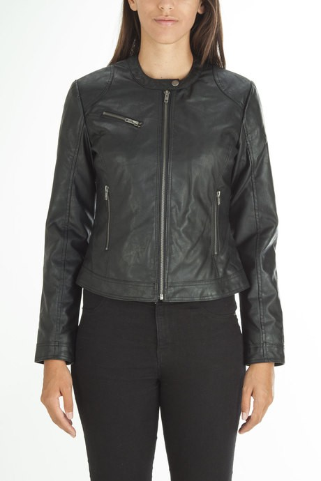 Woman's faux leather jacket