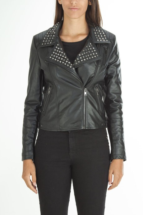 Woman's  leather jacket with studs