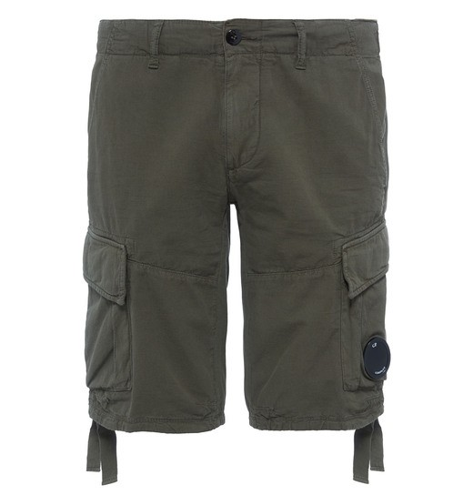 COTTON/LINEN CARGO SHORTS