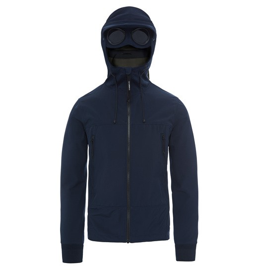 C.P. SHELL GOGGLE ZIP HOODED JACKET