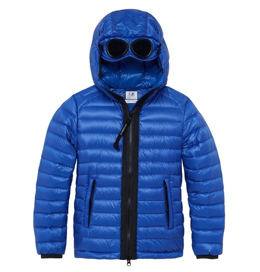 UNDER16 NYLON GOGGLE DOWN JACKET 2-8 YRS