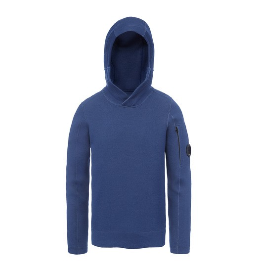 TUBOLAR FLEECE LENS HOODED SWEATSHIRT